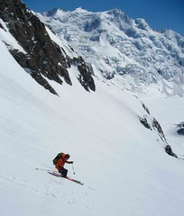 Andrew enjoying no hat skiing
