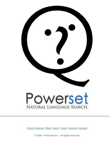 Powerset Web Site