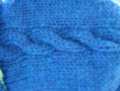 Sapphire Cable Sweater Closeup