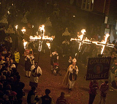 Bonfire night en Lewes