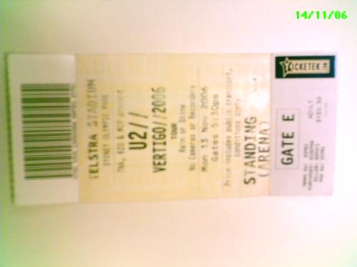 Meu ingresso - U2