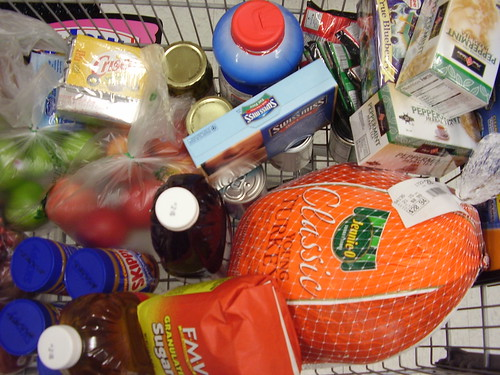 Sharon Anderson shops for Thanksgiving at Kroger