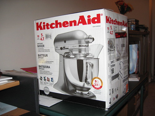 My beautiful chrome Kitchenaid Artisan stand mixer *sigh*