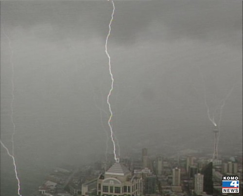 Lightning Hits Seattle