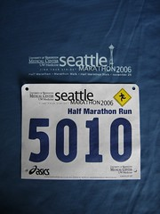 Half Marathon bib and shirt