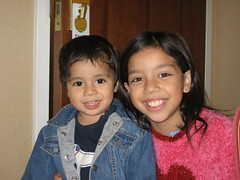 My niece and nephew