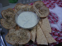 breads + cheese dip (by kapsi)