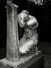 STATUE OF WOMAN BW photo by LadyMohan
