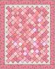 Quilt Pink Squares Lap Quilt
