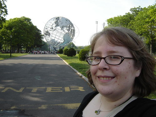 Mary with the Unisphere.