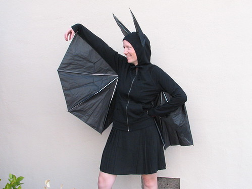 How to build a better bat costume evil mad scientist laboratories halloween is coming right up so it is time to post one of our favorite costumes to help get everyone in the spirit this is a darned good looking bat solutioingenieria Choice Image