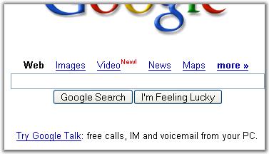 Google Talk-Werbung