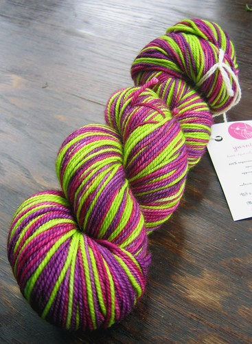 Yarntini Fig and Plum Colorway 001