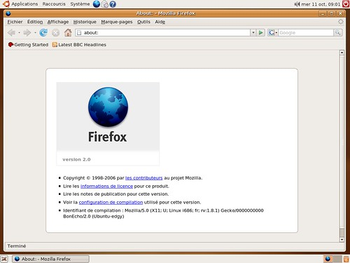 Firefox 2.0rc2 sous Edgy Eft