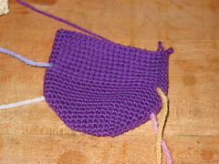 2a - Purple Toe-Up Socks