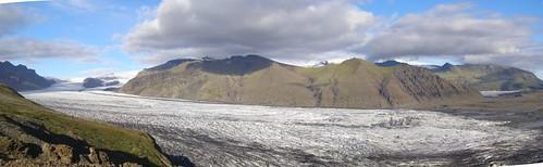 Skaftafell Glacier panorama