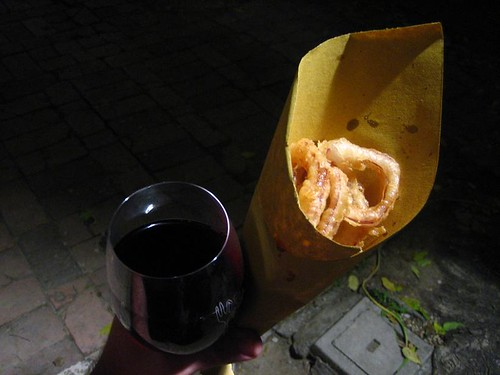 Onion Rings and Wine