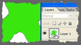 Seleccionar una imagen, sin el área transparente