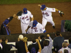congratulating perez on another successful inning