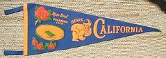1959 Cal Rose Bowl pennant
