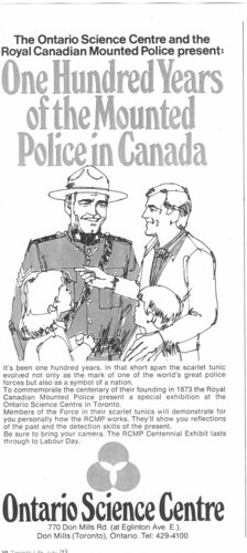 Vintage Ad #85 - The Mounties Take Over the Science Centre!