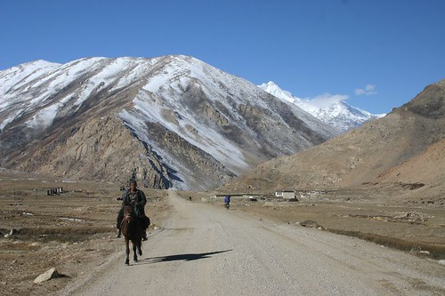 Splendid cycling towards the Nepali border on the Friendship Hwy, Tibet...
