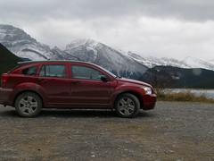 Rental Car in mountains