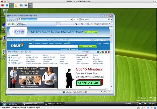 First Internet Explorer browsing