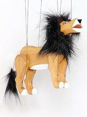 Wooden Lion Marionette