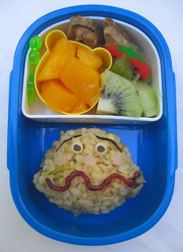 Currypanman onigiri lunch for toddler