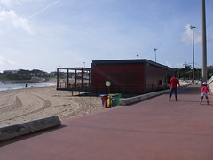 Bar na praia de Santo Amaro de Oeiras