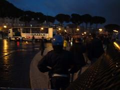 Police Line in Rome