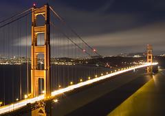 Golden Gate Bridge at night: Fort Battery