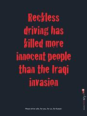En Irak conducen mucho peor