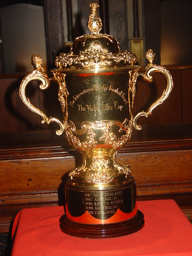 2007 Rugby World Cup trophy.