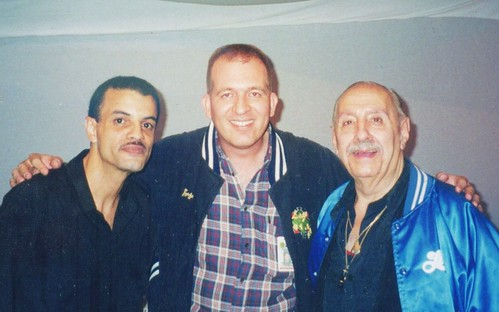 Con Frankie Vazquez y Manny Oquendo