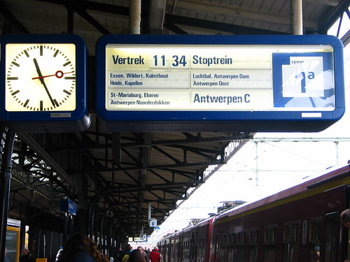 Os comboios que vão para Antuérpia