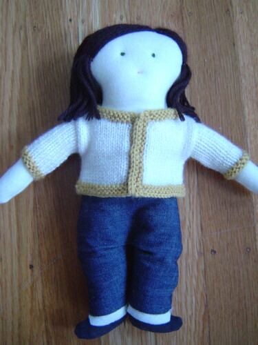 doll in jeans & cardigan