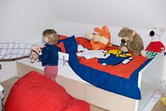 Jan in zijn nieuw bed