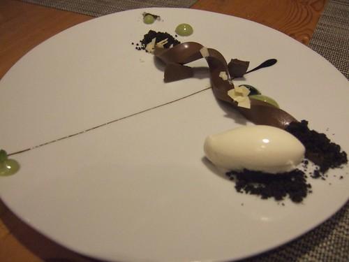 WD-50 (New York) - Soft Chocolate, Avocado Puree, Licorice, Lime Ice Cream, Mint