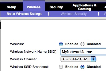Hiding the broadcast SSID