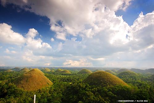 Chocolate Hills, Филиппины, Шоколадные холмы, остров Бохоль