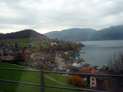 On the train to Thun