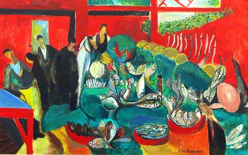Fishmongers/Eren Eyüboglu (1907-1988), Istanbul Modern