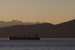 Frieghter and North Shore Mountains