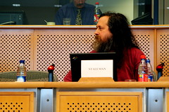 Stallman at the European Parliament