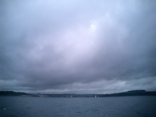 Fal estuary under thunderous skies