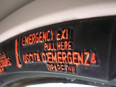 uscita d'emergenza.