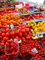 Tomatoes at Borough Market, London