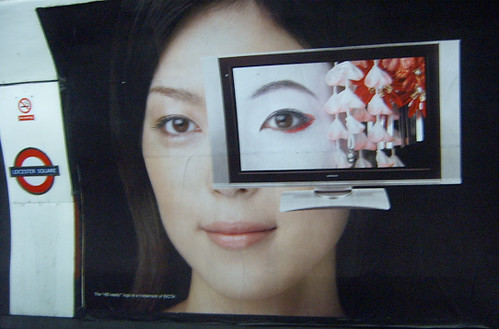 Hitachi Ad featuring Geisha at Leicester Square Tube Station